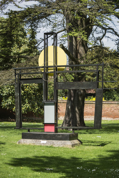 Construction (Crucifixion) (1966) by Barbara Hepworth, Winchester Cathedral, Dome Alley, Winchester, Hampshire. General view from the south. Photographed by Steven Baker 2015