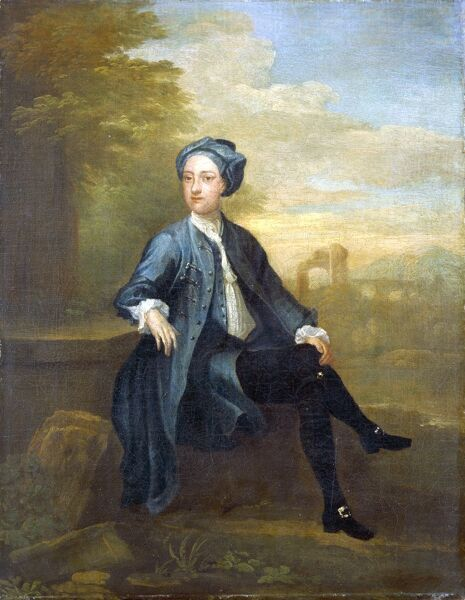 "MARBLE HILL HOUSE, Twickenham, Richmond, Middlesex. ""Sir Robert Pye"" 1731 by William HOGARTH (1697-1764)"