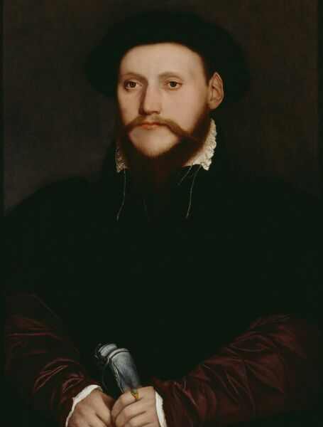 "AUDLEY END HOUSE, Saffron Walden, Essex. ""Portrait of an Unknown Man"" by Hans Holbein the Younger (1497-1543)"
