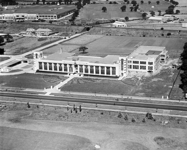 THE HOOVER BUILDING, Western Avenue, Perivale, London. Aerial view, 10th August 1932. Aerofilms Collection (see Links)