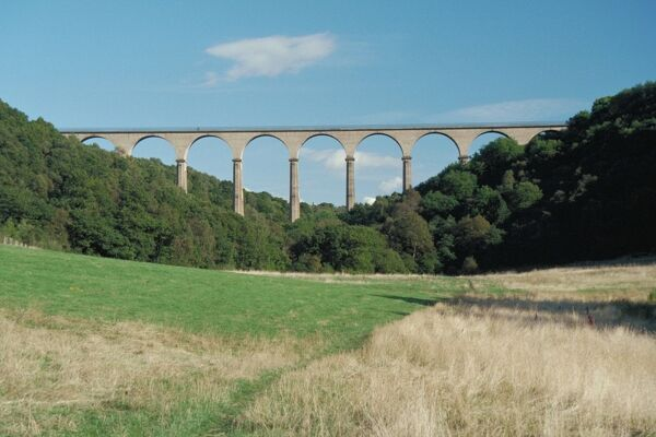 Railway viaduct, now part of Waskerley Walk, County Durham. IoE 350551