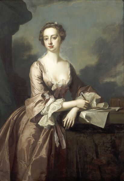 KENWOOD HOUSE, SUFFOLK COLLECTION, London. 'Mary Finch, Viscountess Andover' (1717-1803) by Thomas HUDSON (1701-79)