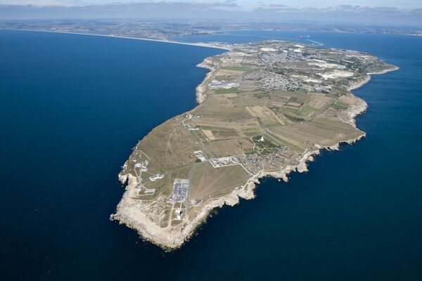 Portland, Dorset. Aerial view of the island. SY6768/28