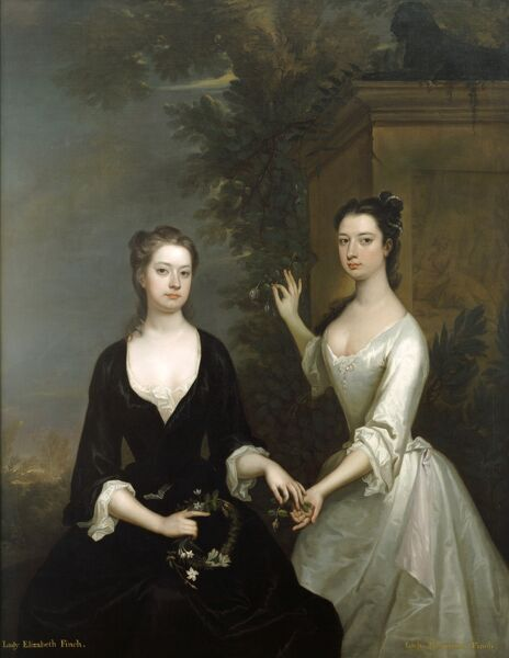 KENWOOD HOUSE, London: The Iveagh Bequest. Lady Elizabeth and Lady Henrietta Finch, ca. 1730-31 by Charles Jervas. Oil on canvas 72 x 56 in. (183 x 142 cm). 88029120