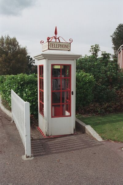 Rare survival of an early telephone box. Royal Tunbridge Wells, Kent. IoE 168191