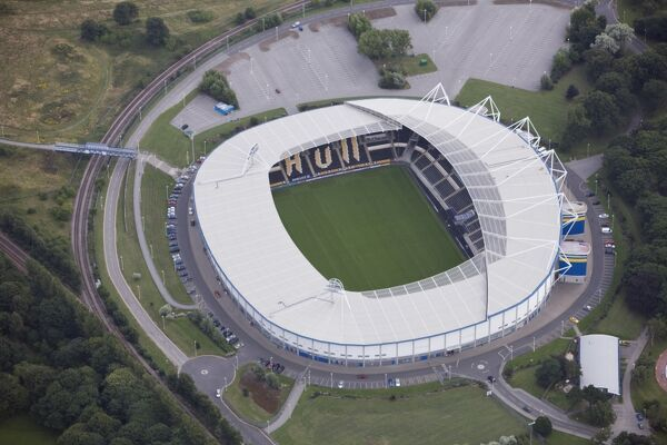 KC STADIUM, Hull. Aerial view. Home of Hull City Football Club (The Tigers) and Hull FC Rugby League club. Photographed in 2009