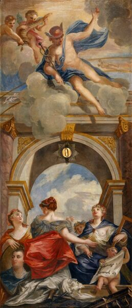 "CHISWICK HOUSE, London. ""Mercury and the Arts"" c.1729 by William KENT (1685-1748)"