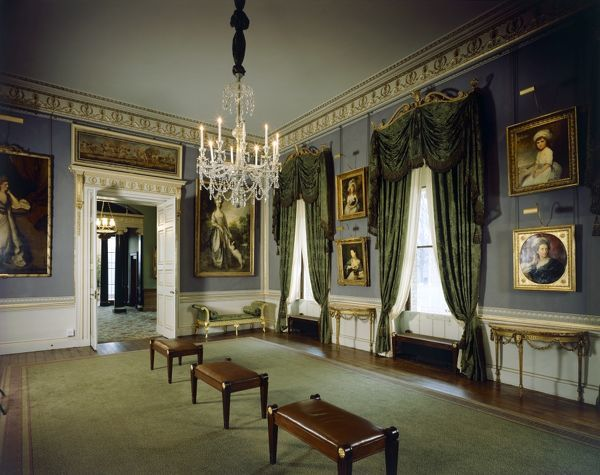 KENWOOD HOUSE, London. Interior view. View of the Music Room looking towards the Orangery. 2001