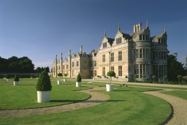 KIRBY HALL, Northamptonshire. West Front and Parterre