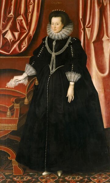 "KENWOOD HOUSE, SUFFOLK COLLECTION, London. ""Elizabeth Drury, Countess of Exeter"" c.1615 by William LARKIN (died 1619)"