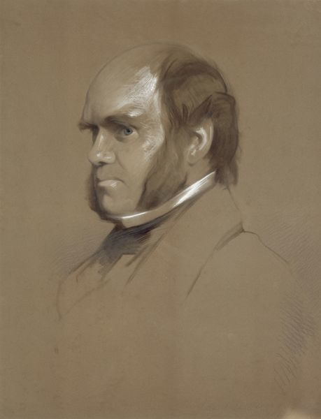 DOWN HOUSE, Downe, Kent. Portrait of Charles Darwin. Pastel drawing by Samuel Laurence