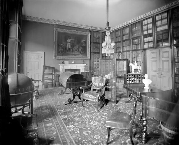 APSLEY HOUSE, London. Interior view. The Library. Photographed by Newton and Co. Date range: 1890-1914