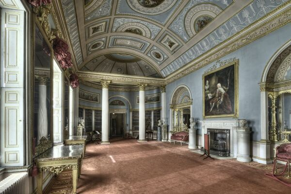 KENWOOD HOUSE, London. The library interior looking west, 2011