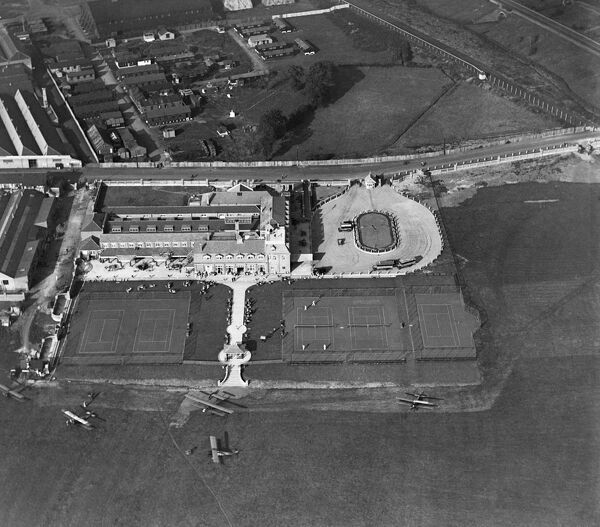 LONDON AERODROME, Hendon. Aerial photograph taken in September 1919 showing the London Country Club (formerly the London Flying Club)