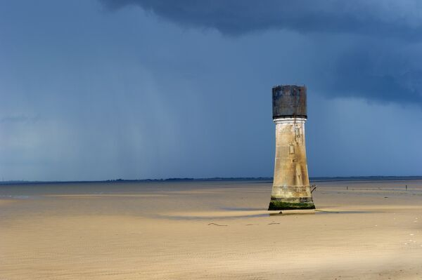 SPURN POINT (also known as Spurn Head), Easington, East Yorkshire. Low lighthouse tower