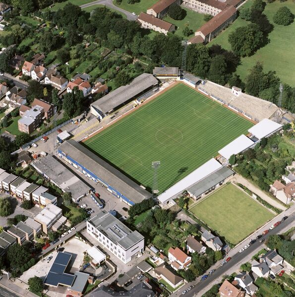 MANOR GROUND, Oxford. Aerial view of the former home of Oxford United Football Club photographed in 1992. The Us moved to the Kassam Stadium in 2001. Aerofilms Collection (see Links)