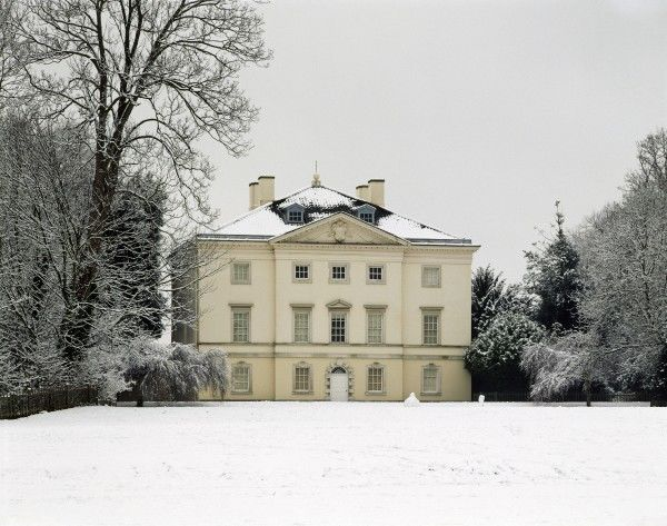 MARBLE HILL HOUSE, Richmond, Twickenham, Middlesex. View of the South front in the snow