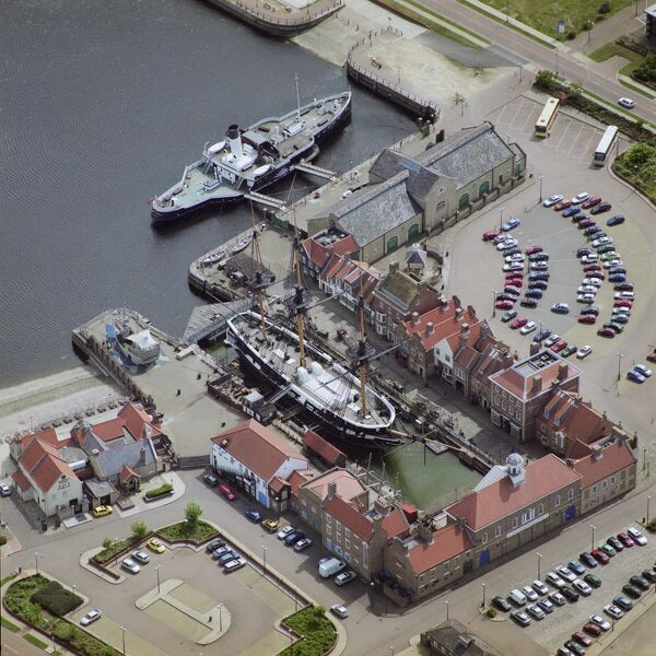 HMS Trincomalee and PSS Wingfield Castle docked at Hartlepool