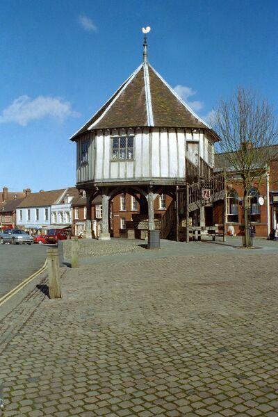Grade I listed market cross, now housing Wymondham's tourist information centre. Norfolk. IoE 386170