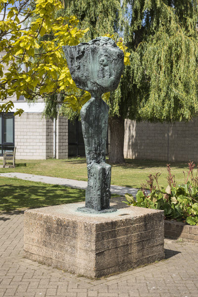 Father Courage (1960) by Frederick Edward McWilliam, (located near the Gulbenkian Cinema) University of Kent, Canterbury, Kent. General view from the south west. Photographed by Steven Baker 2015