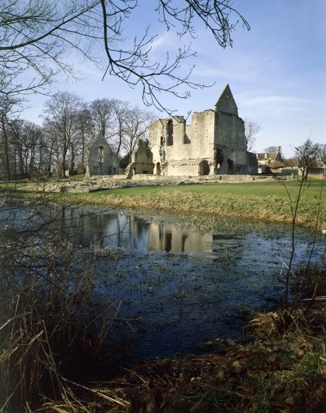 MINSTER LOVELL HALL, Oxfordshire. View from across the water