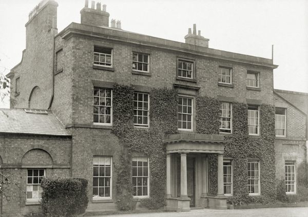 "DOWN HOUSE, Kent. Photograph of ""The Mount"", the house in Shrewsbury where Charles Darwin was brought up"