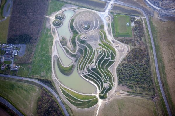 Northumberlandia, Lady of the North, Cramlington, Northumberland. A huge land sculpture in the shape of a reclining female figure, completed in 2012