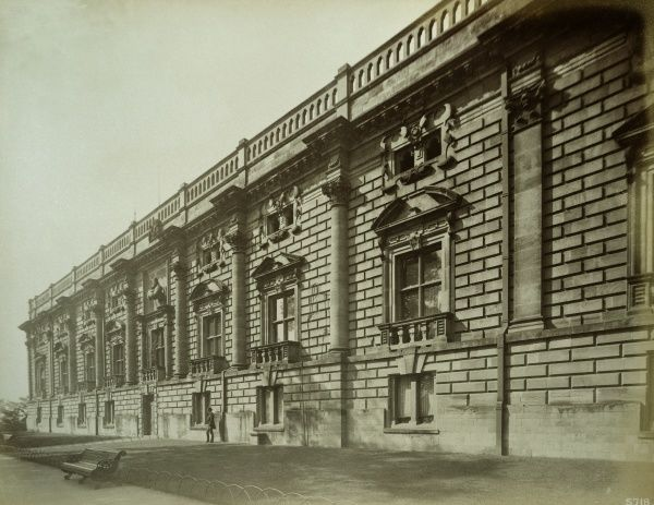 NOTTINGHAM CASTLE. Exterior view of the east front. Photographed in 1885 by Bedford Lemere