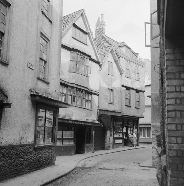 HOST STREET, Bristol. View along Host Street, Bristol. Photographed by Eric de Mare between 1945 and 1980
