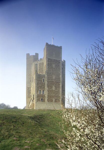 ORFORD CASTLE, Suffolk. View of the royal castle built for coastal defence, 1165-1172