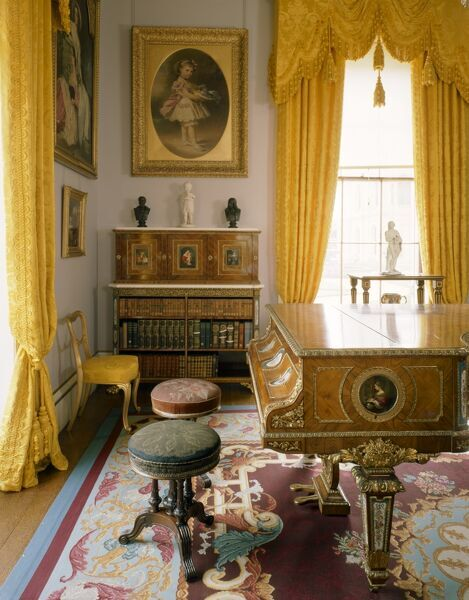 OSBORNE HOUSE, East Cowes, Isle of Wight. Interior view of the Drawing Room. Some items shown maybe on loan from the Royal Collection