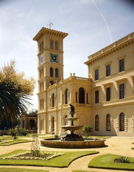 OSBORNE HOUSE, East Cowes, Isle of Wight. The upper terrace