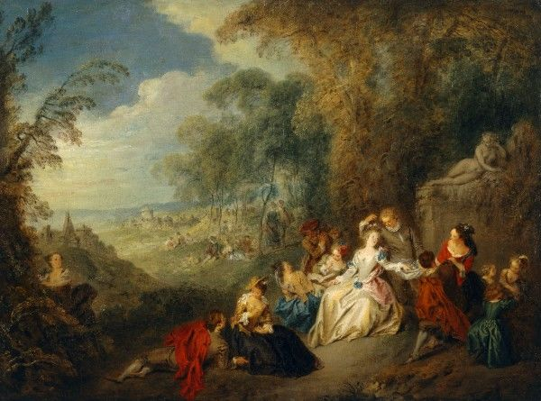 "KENWOOD HOUSE, THE IVEAGH BEQUEST, London. ""Fete Champetre"" by Jean-Baptiste-Joseph PATER (1695-1736). IBK 954"