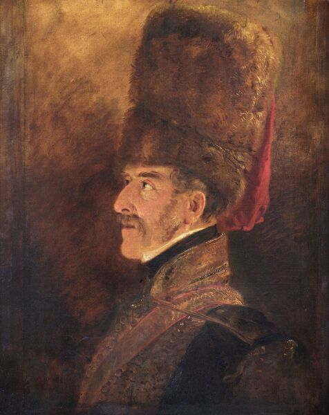 APSLEY HOUSE, London. Field Marshal Henry William Paget 1st Marquess of Anglesey (1768-1854) sketched by Jan Willem PIENEMAN in 1821 (WM 1481-1948). Despite personal differences with the Duke of Wellington, in 1815 General Paget commanded the Cavalry Corps