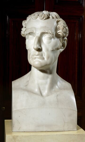 APSLEY HOUSE, London. Bust of the Duke of Wellington 1832 by Benedetto PISTRUCCI (1784-1855)