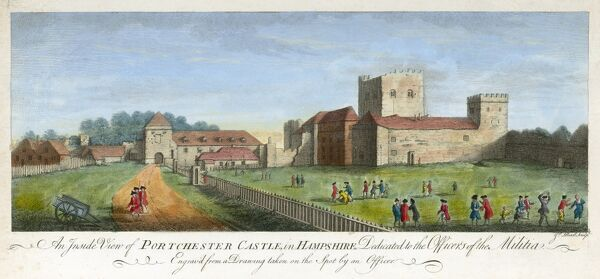"PORTCHESTER CASTLE, Hampshire. ""An inside view of Portchester Castle in Hampshire"
