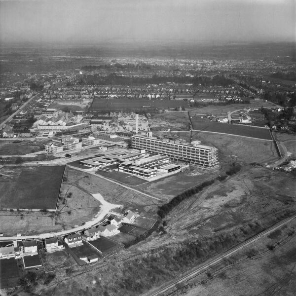 The Princess Margaret Hospital, Swindon (now demolished). Photographed in March 1963. Aerofilms Collection