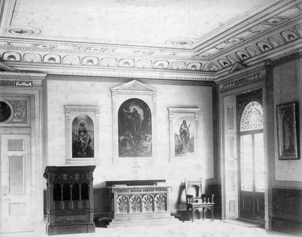OSBORNE HOUSE, Isle of Wight. The Ryde Album. Interior view. The Private Chapel c.1890