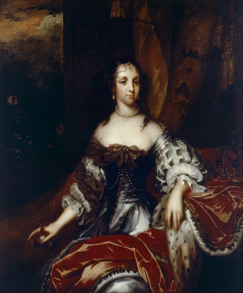 "KENWOOD HOUSE, SUFFOLK COLLECTION, London. ""Queen Catherine of Braganza"" c.1665 (wife of Charles II) attributed to Jacob HUYSMANS (c.1633-96)"