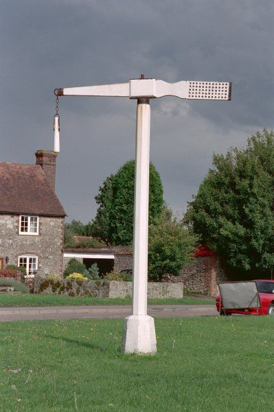 Tilting pole, would have been used by knights to practise swordstrokes. Offham, Kent. IoE 426949