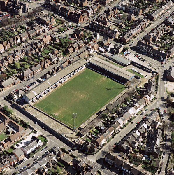 RECREATION GROUND, Chesterfield. Home of Chesterfield Football Club - The Spireites. Photographed in May 2001. Aerofilms Collection (see Links)