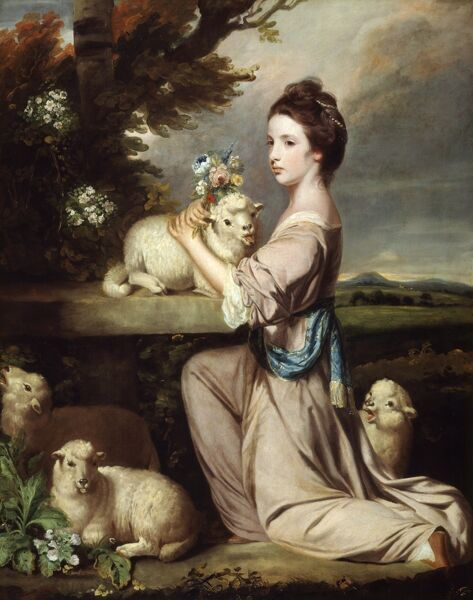 "KENWOOD HOUSE, THE IVEAGH BEQUEST, London. ""Lady Mary Leslie"" 1764, by Sir Joshua Reynolds (1723-92)"