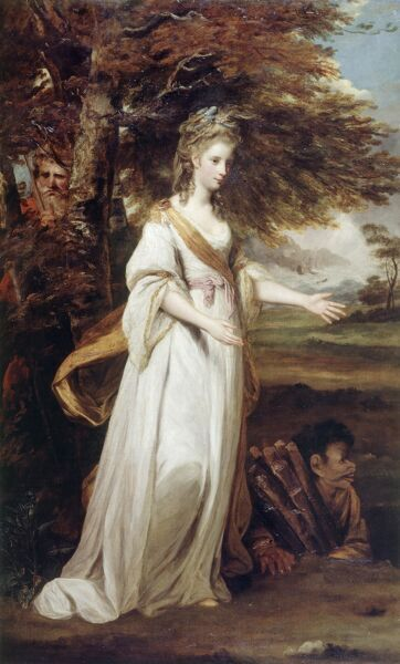 "KENWOOD HOUSE, THE IVEAGH BEQUEST, London. "" The Hon. Mrs Tollemache as 'Miranda' "" 1773-74 by REYNOLDS Sir Joshua (1723-92)"