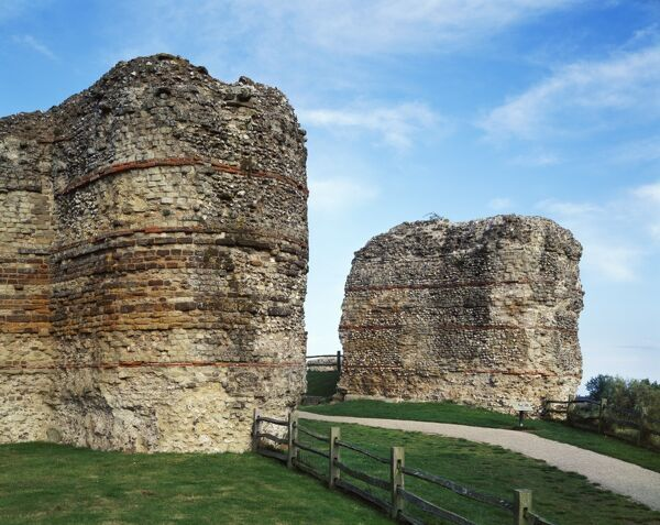 PEVENSEY CASTLE, East Sussex.The Roman West Gate