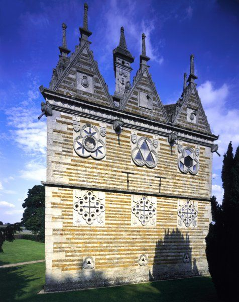 RUSHTON TRIANGULAR LODGE, Northamptonshire. View of the South West front