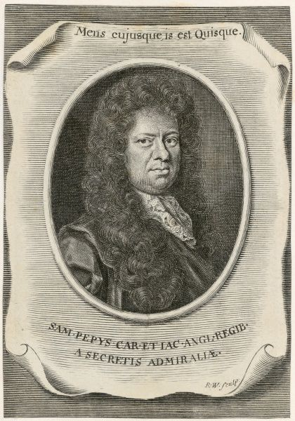 MAYSON BEETON COLLECTION. Samuel Pepys, Clerk of the Acts to the Navy Board, and diarist, 1666. His secret diary presents a compelling first hand account of the Second Anglo-Dutch War (1665-7), the Great Plague (1665), and the Great Fire of London (1666)