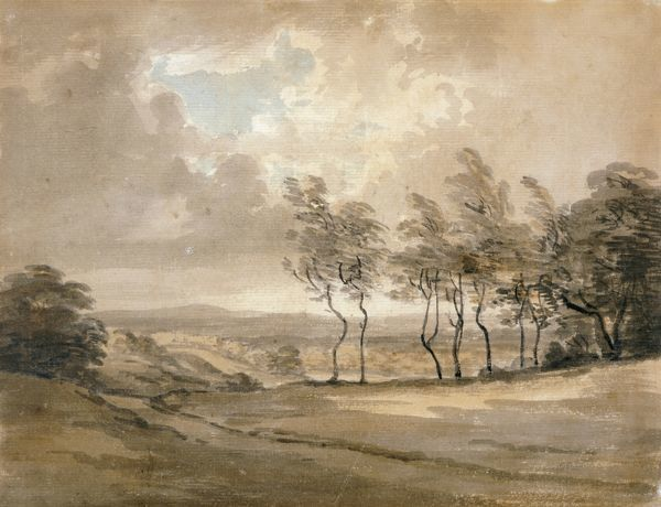 "KENWOOD HOUSE, London. ""View of Hampstead Heath"" by Paul SANDBY, RA (1730-1809)"