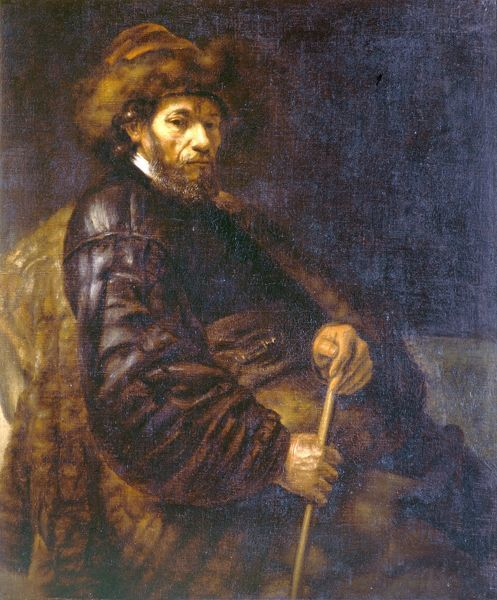 "BRODSWORTH HALL, South Yorkshire. ""A Seated Man with a Stick"" after REMBRANDT"