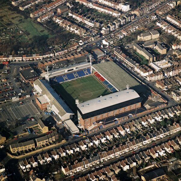 SELHURST PARK, London. Aerial view of the home of Crystal Palace Football Club. Photographed in 1996 when the Eagles under Dave Bassett were plying their trade in Division One. Aerofilms Collection (see Links)