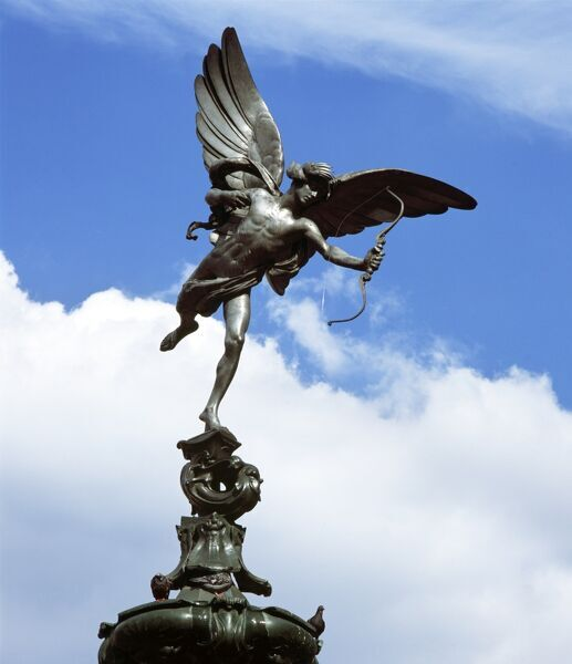 THE SHAFTESBURY MEMORIAL, London. ' Eros ' statue. The Angel of Christian Charity